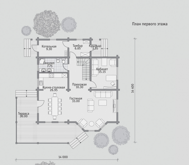 Дом из бруса-293