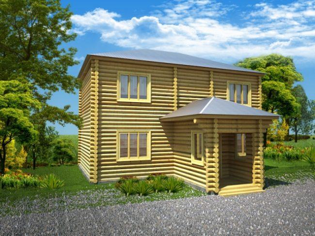 Дом из бревна-63