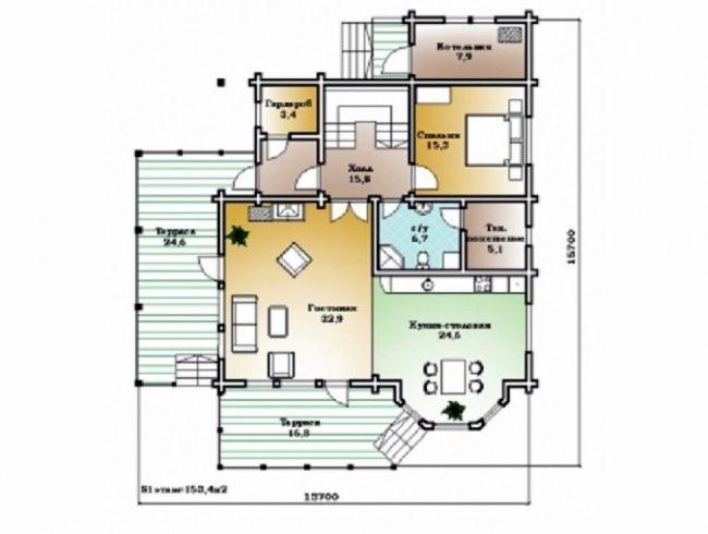 Дом из бруса-298
