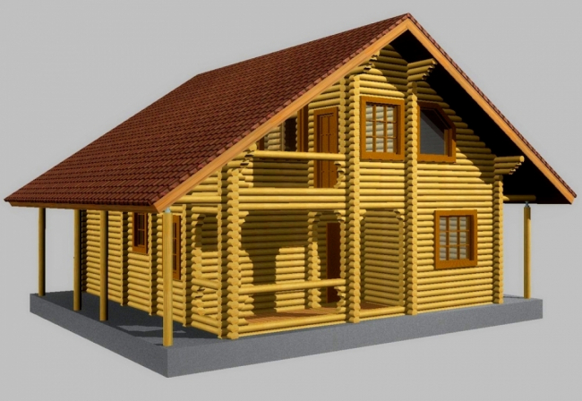 Дом из бревна-127