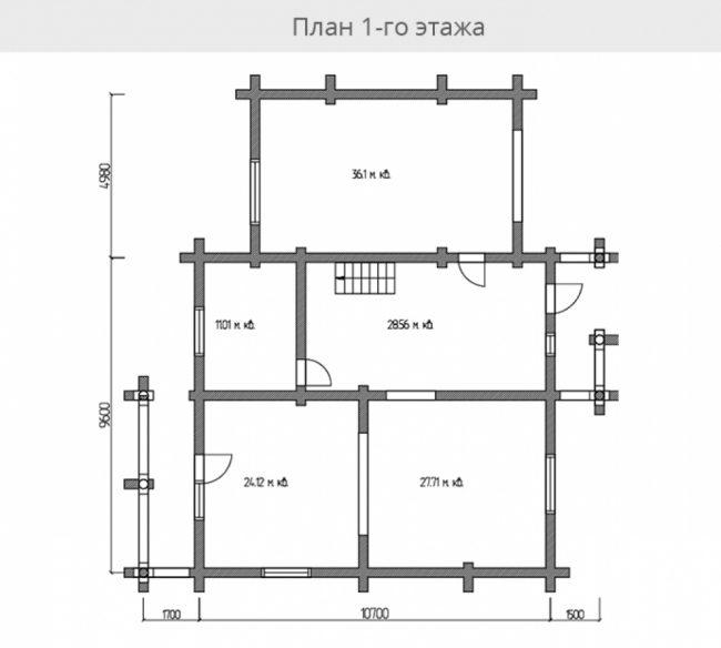 Дом из бревна-172
