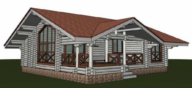 Дом из бревна-165