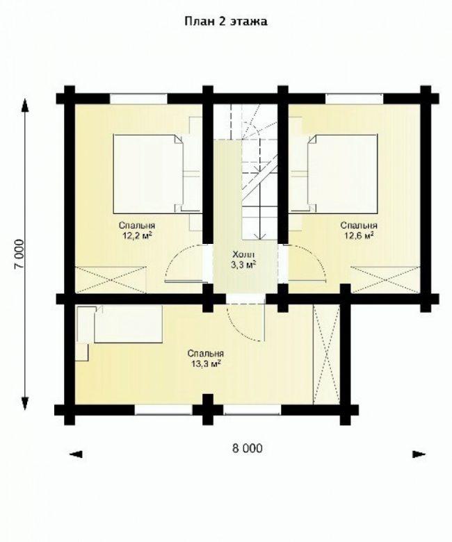 Дом из бревна-80