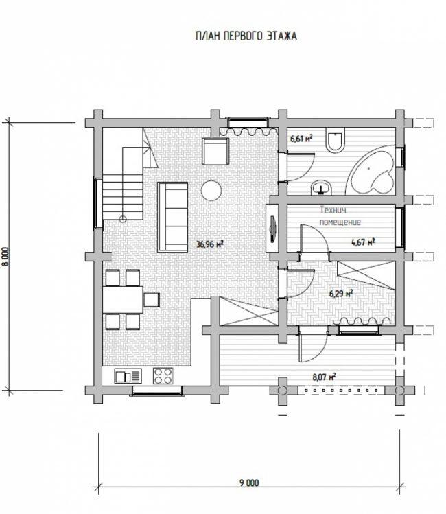 Дом из бревна-101