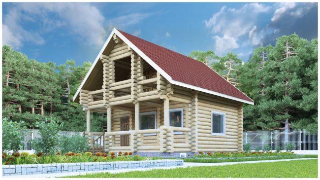 Дом из бревна-73