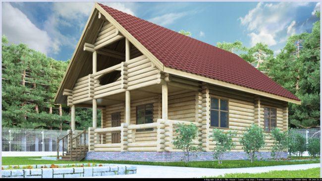 Дом из бревна-119