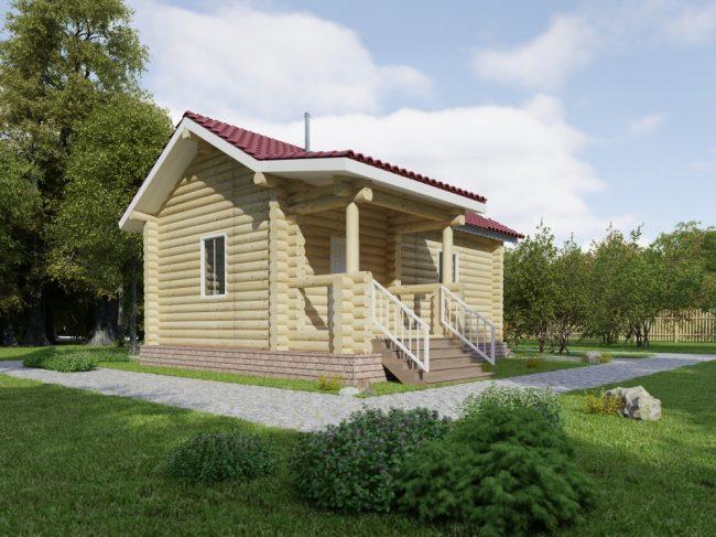 Дом из бревна-55