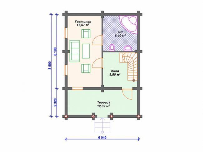 Дом из бревна-64