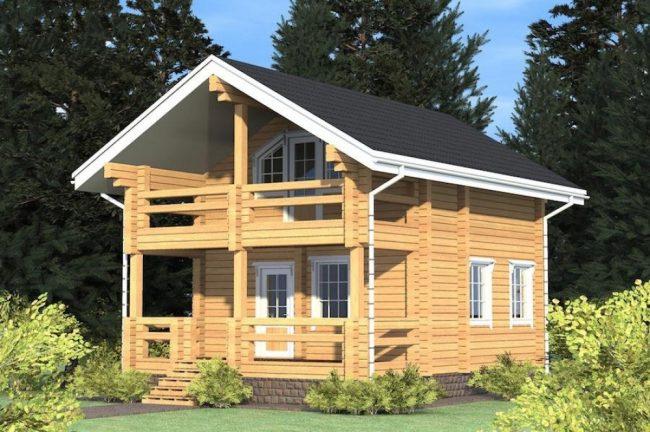 Дом из бревна-65