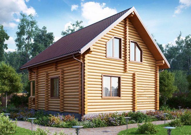 Дом из бревна-100