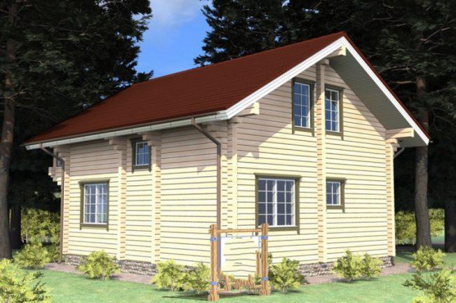 Дом из бревна-111