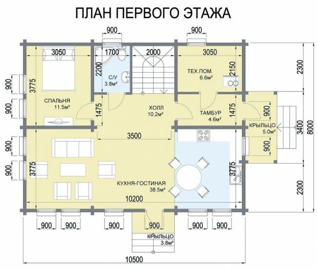 Дом из бревна-121