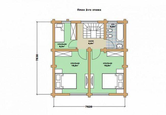 Дом из бревна-81