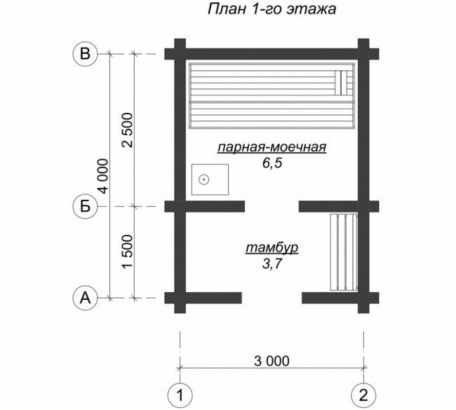 Сруб бани-8