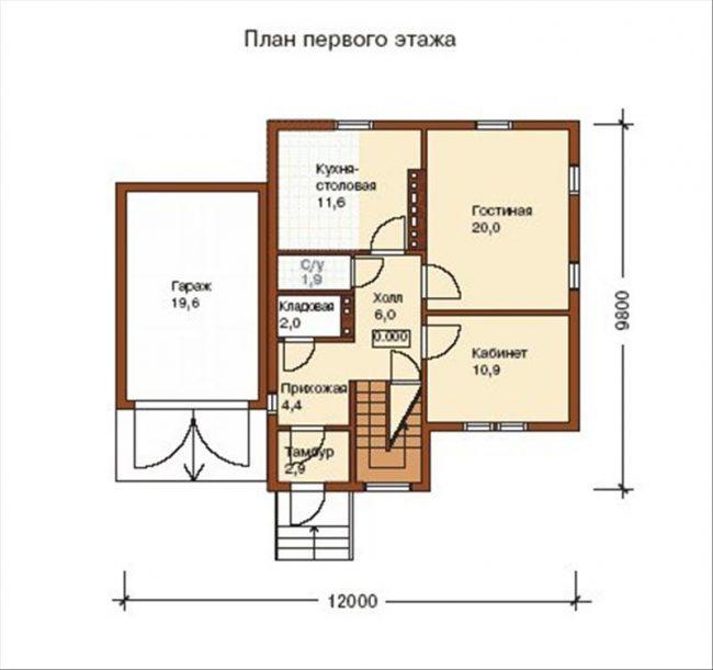 Дом из бруса-245