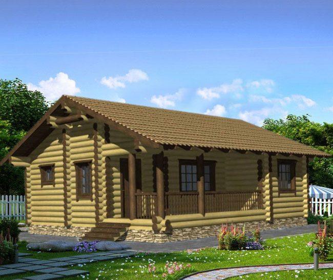 Дом из бревна-109