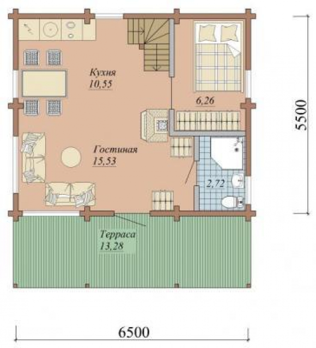 Дом из бруса-13