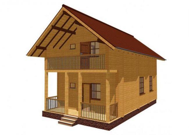 Дом из бруса-40