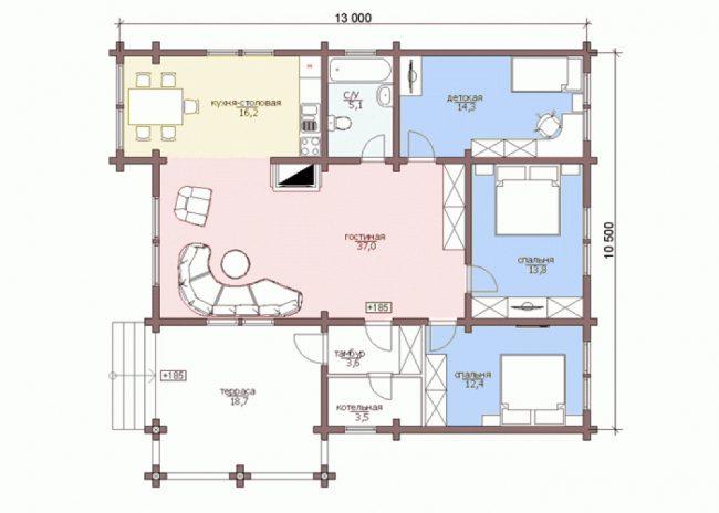 Дом из бруса-252