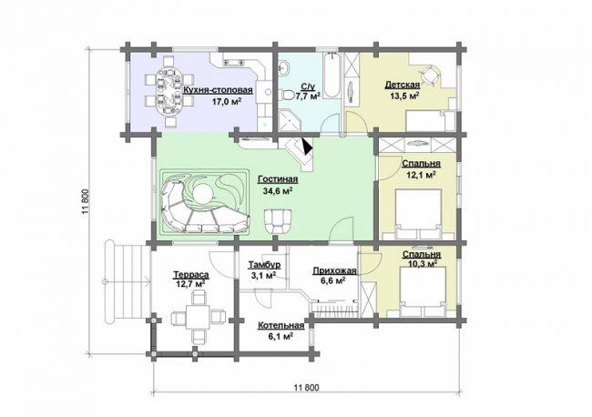Дом из бруса-277