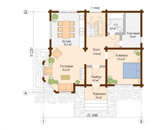 Дом из бруса-193