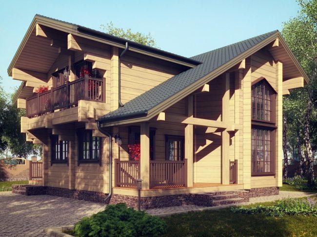 Дом из бруса-186