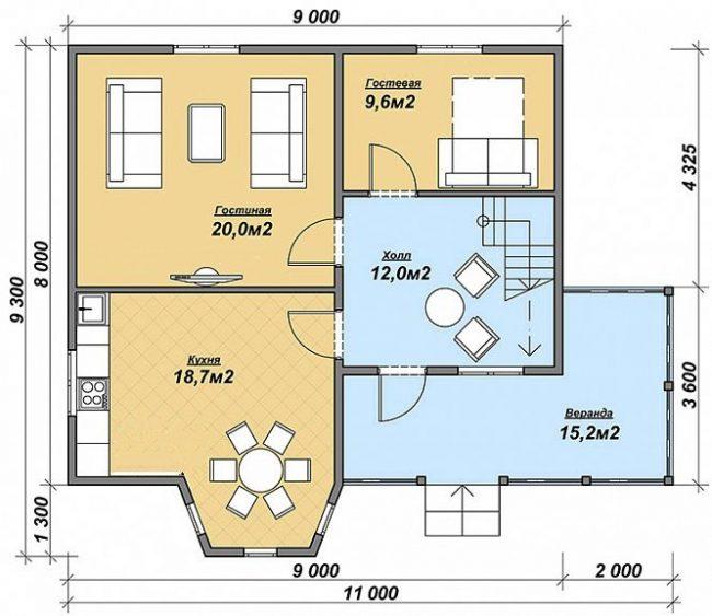 Дом из бруса-235