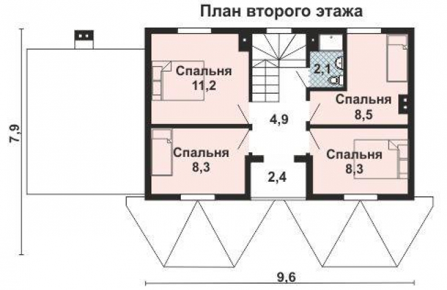 Дом из бруса-173