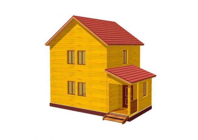 Дом из бруса-64