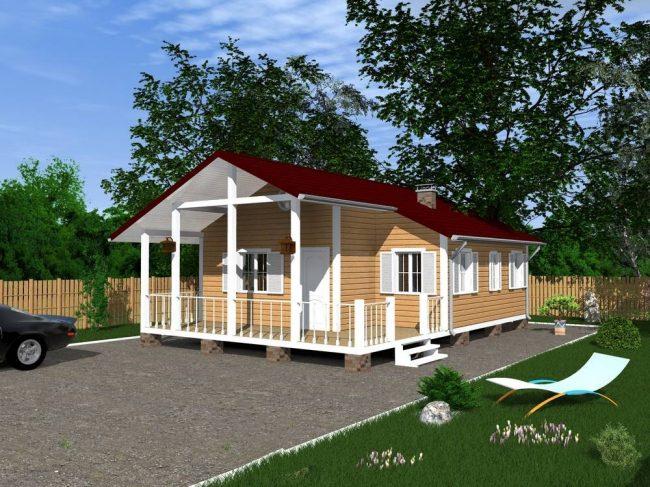 Дом из бруса-163