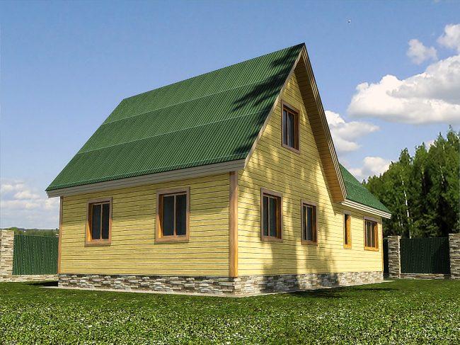Дом из бруса-126