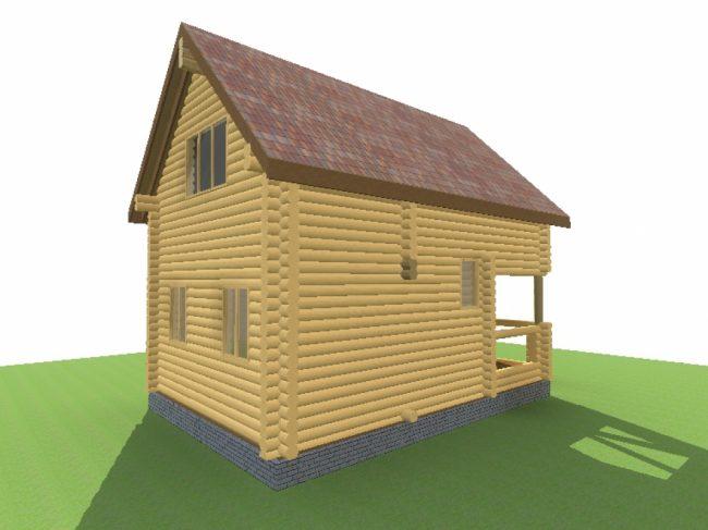 Дом из бревна-26