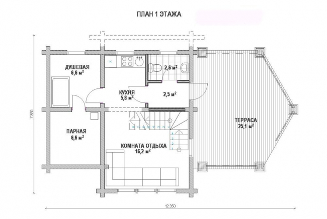Дом из бруса-171