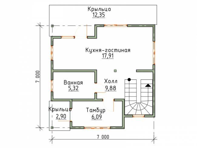 Дом из бруса-85