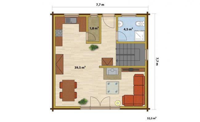 Дом из бруса-135