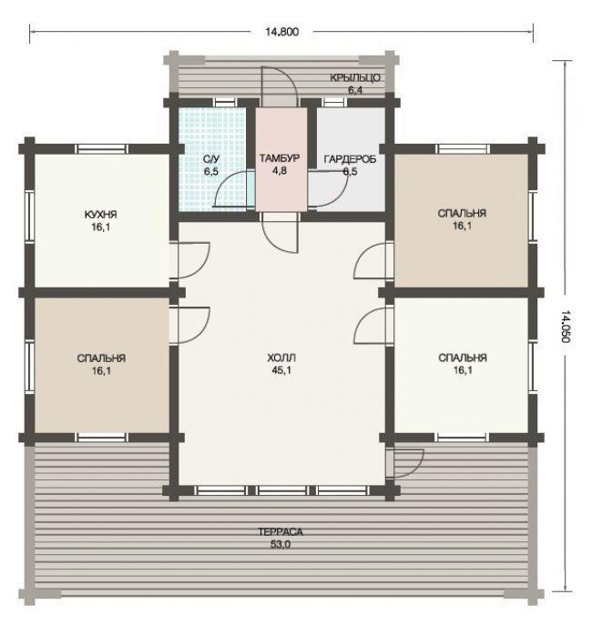 Дом из бруса-294