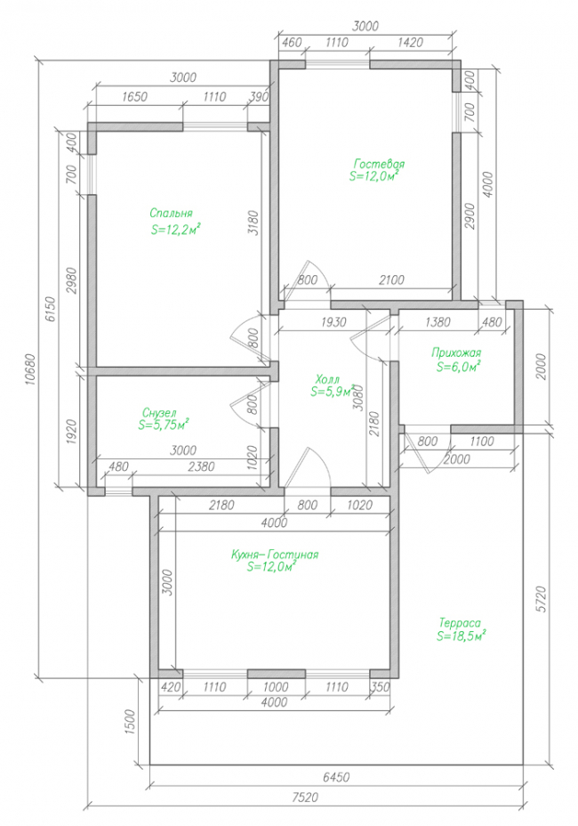 Дом из бруса-120