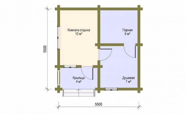 Дом из бревна-6
