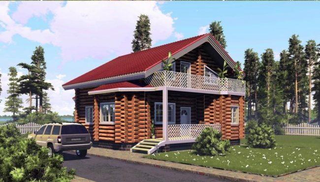 Дом из бревна-170