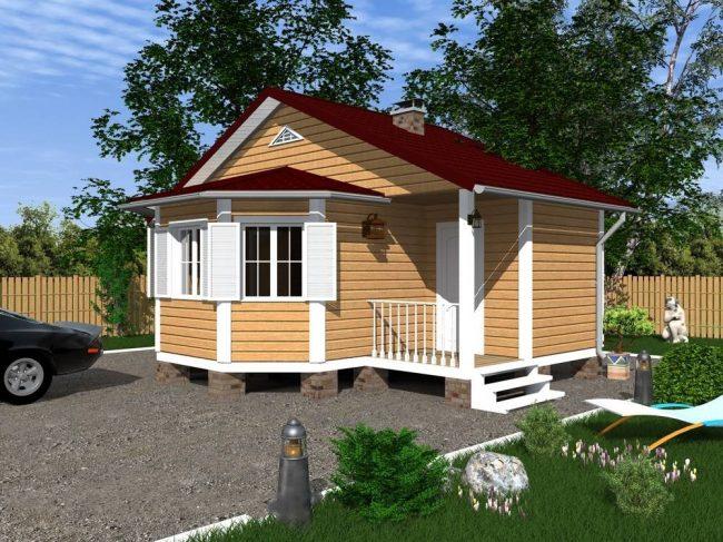Дом из бруса-56