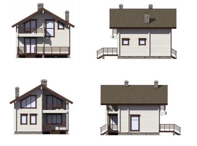 Дом из бруса-133