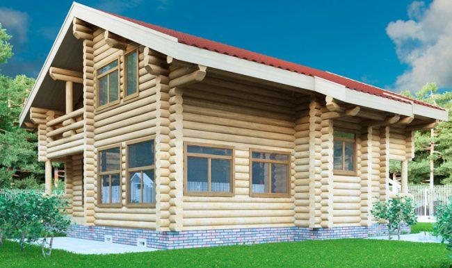 Дом из бревна-194