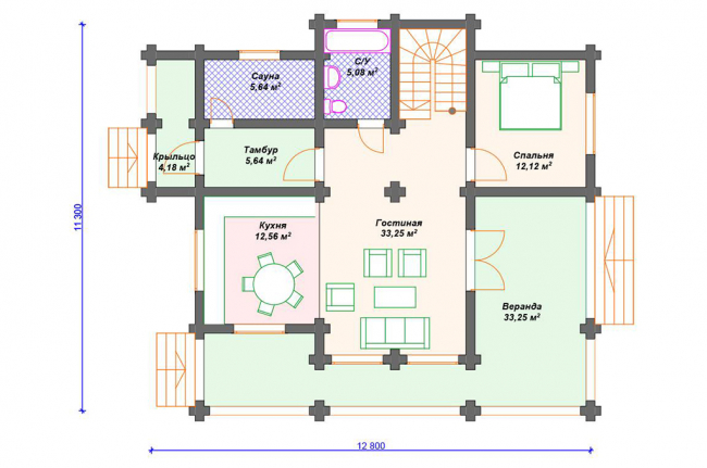 Дом из бревна-193