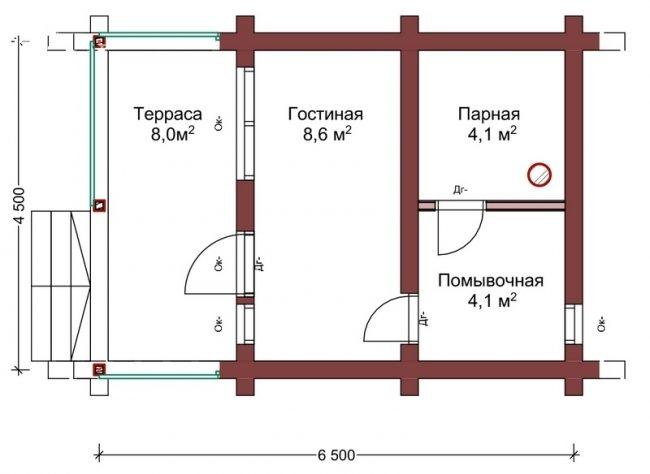 Сруб бани-53