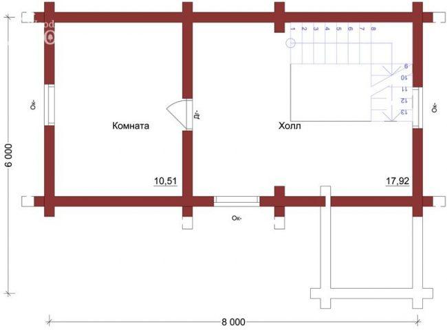 Дом из бруса-62