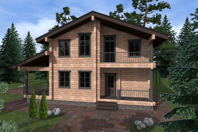 Дом из бруса-273