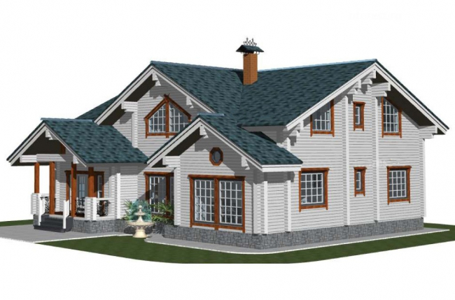 Дом из бруса-295