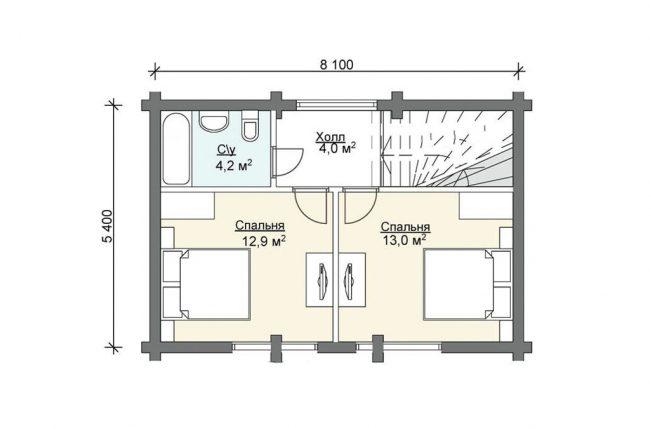 Дом из бруса-299