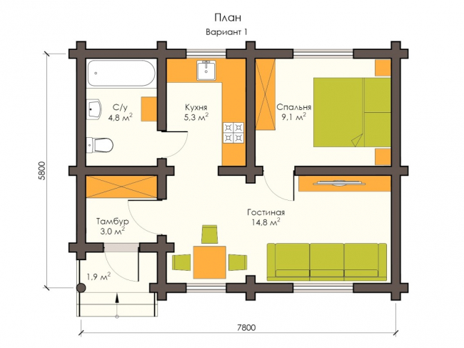 Дом из бревна-21