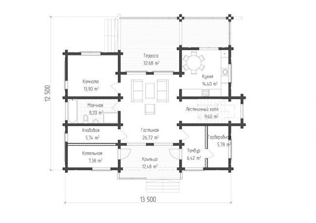 Дом из бруса-291